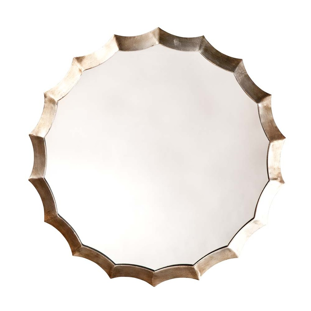 Round Scalloped Mirror | Furnitureland Home