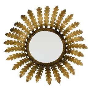 Elouise Mirror in Antique Brass | Furnitureland Home