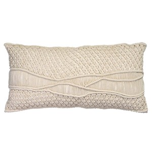 Indio Macrame Pillow in Cream Macrame | Jamie Young