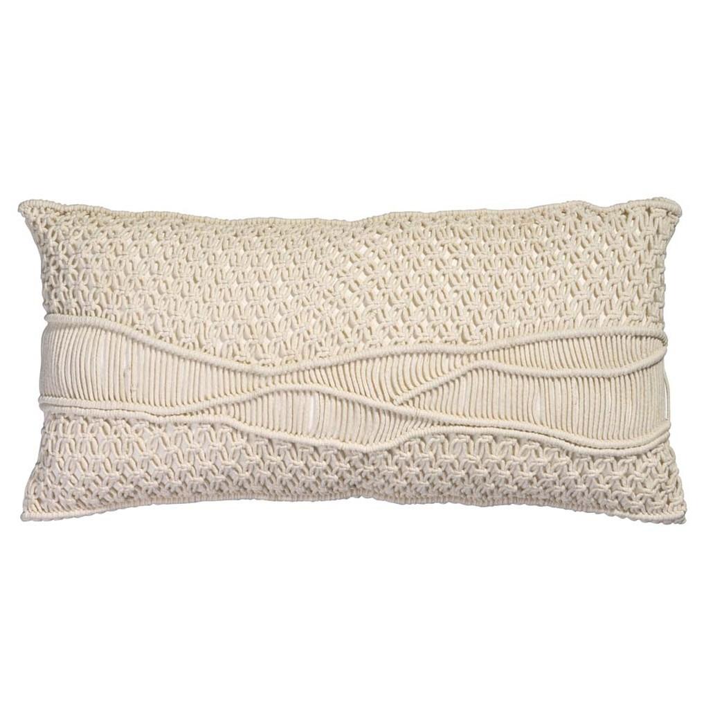 Indio Macrame Pillow in Cream Macrame | Jamie Young