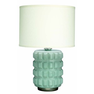 Madison Table Lamp in Mist Glass | Jamie Young