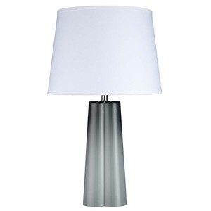 Quatrefoil Table Lamp in Cool Grey Glass | Jamie Young