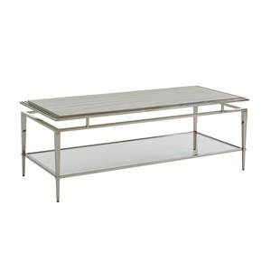 Athene Stainless Cocktail Table | Lexington