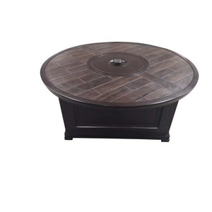 Bungalow Round Fire Pit Table with Porcelain Top | Sunvilla Home