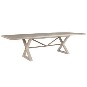 Ringo Rectangular Dining Table in Bianco Finish | Artistica