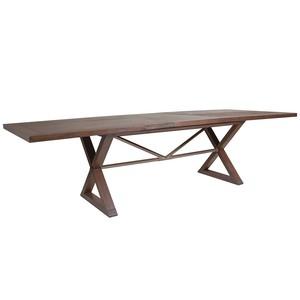 Ringo Rectangular Dining Table in Marrone Finish | Artistica