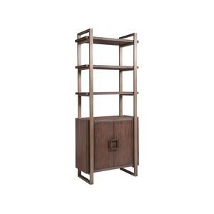Vertex Bookcase in Marrone Finish | Artistica