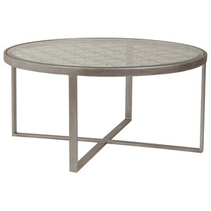 Royere Round Cocktail Table in Argento Finish | Artistica