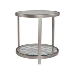 Royere Round End Table in Argento Finish | Artistica