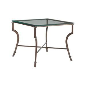 Syrah Square End Table in Antique Copper Finish | Artistica