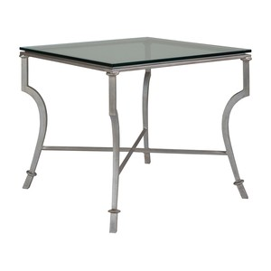 Syrah Square End Table in Argento Finish | Artistica