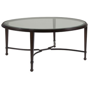 Sangiovese Round Cocktail Table in Antique Copper | Artistica