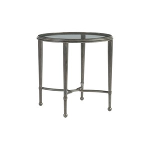 Sangiovese Round End Table in St. Laurent Finish | Artistica