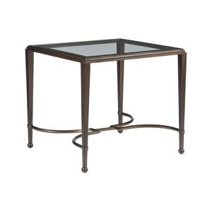 Sangioves Rectangular End Table in Antique Copper | Artistica