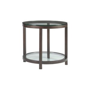 Per Se Round End Table in Antique Copper Finish | Artistica