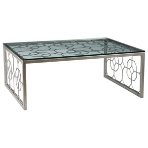 Honeycomb Rectangular Cocktail Table in Argento | Artistica