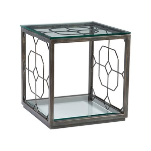 Honeycomb Square End Table in St. Laurent Finish | Artistica