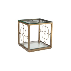 Honeycomb Square End Table in Renaissance Finish | Artistica