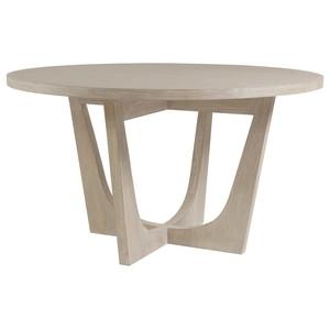Brio Round Dining Table in Bianco Finish | Artistica