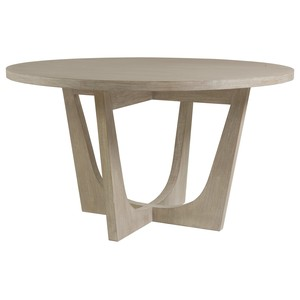 Brio Round Dining Table in Bianco Finish | Artistica