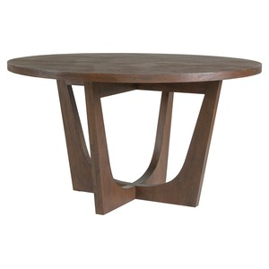 Brio Round Dining Table in Marrone Finish | Artistica