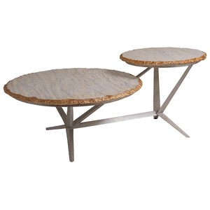 Cosmos Tiered Round Cocktail Table | Artistica