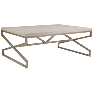 Edict Rectangular Cocktail Table in Bianco Finish | Artistica
