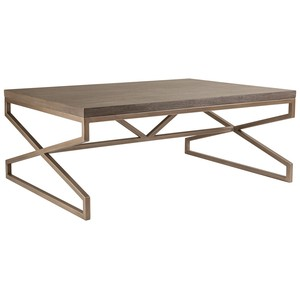 Edict Rectangular Cocktail Table in Grigio Finish | Artistica