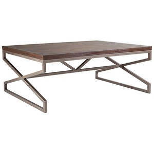 Edict Rectangular Cocktail Table in Marrone Finish | Artistica