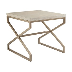 Edict Square End Table in Bianco Finish | Artistica