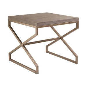 Edict Square End Table in Grigio Finish | Artistica