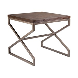 Edict Square End Table in Marrone Finish | Artistica