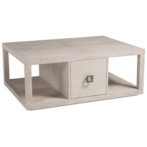 Credence Rectangular Cocktail Table in Bianco | Artistica