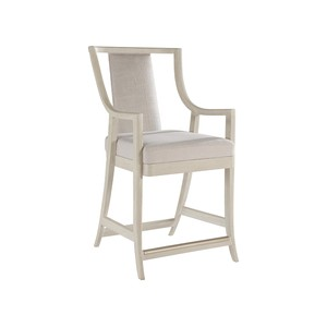 Mistral Woven Counter Stool in Bianco | Artistica