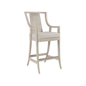 Mistral Woven Barstool in Bianco | Artistica