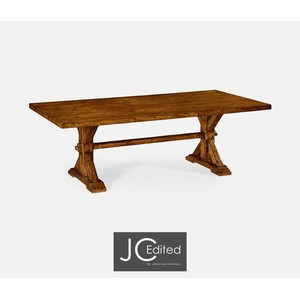 "90"" Solid Country Walnut Dining Table"