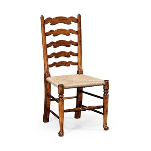 Walnut Country Ladder Back Side Chair | Jonathan Charles