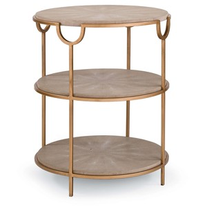 Vogue Shagreen Side Table | Regina Andrew