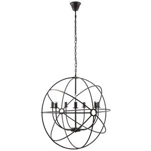Atom Chandelier in Black | Modway