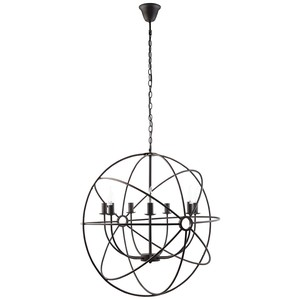 Atom Chandelier in Black | Modway
