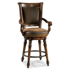 Waverly Place Return Memory Swivel Counter Stool | Hooker Furniture
