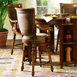 Waverly Place Return Memory-Swivel Counter Stool | Hooker Furniture