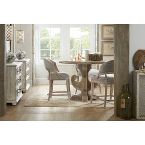 Garnier Barrel Back Counter Stool | Hooker Furniture