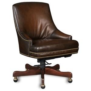 Sarzana Fortess Executive Swivel Tilt Arm Chair | Hooker Furniture