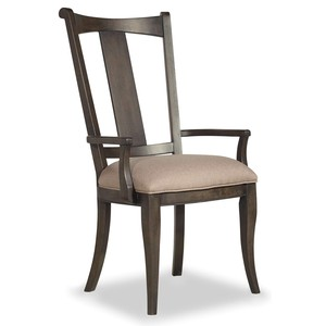 Vintage West Upholstered Splatback Arm Chair | Hooker Furniture