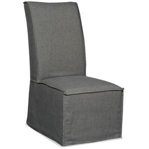 Zuma Charcoal Armless Dining Chair | Hooker Furniture