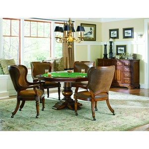 Waverly Place Tall-Back Castered Game Chair | Hooker Furniture