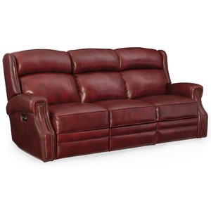 Carlisle Power Motion Sofa w/ Power Headrest | Hooker Furniture
