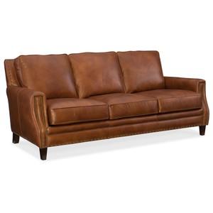 Exton Stationary Sofa | Hooker Furniture