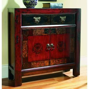 Asian 2 Door/1 Drawer Hall Chest   Hooker Furniture